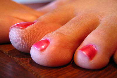 Kristie O'Brien's toenails