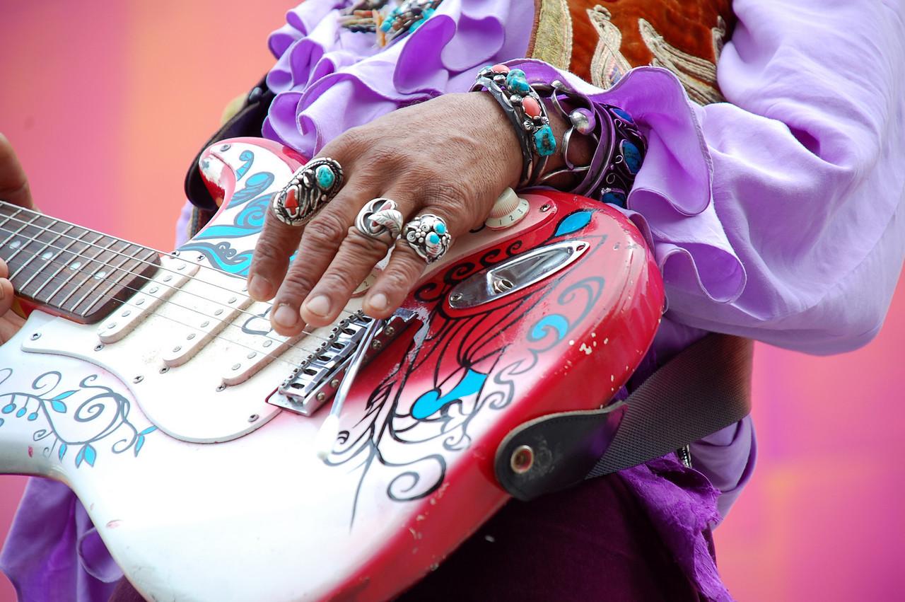 Jimmy Hendrix Impersonator, Seattle, Wa.