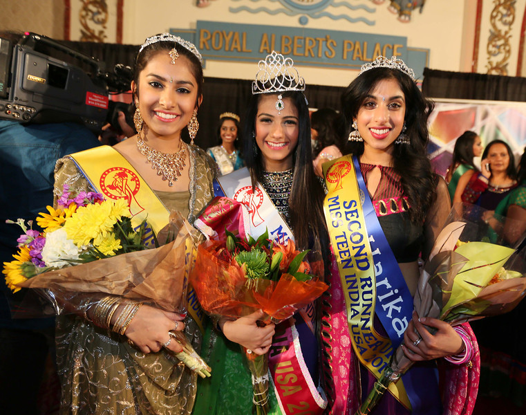 Alycia Rehmatullah 15 years old  Student declared Miss India TEEN USA 2013 at a beauty pageant organized by IFC and Albert Palace  held RAP in  New Jersey on 24th Nov 2013 flanked bysara ahmed 14 1 runner up,Harika talluri. 15 2 runner up    ....pic Mohammed Jaffer-SnapsIndia