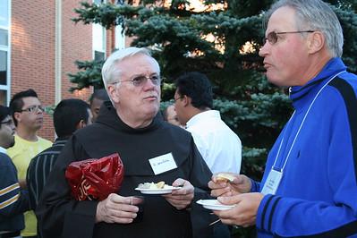Fr. John Cella and seminarian John Gibbons
