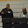 Clara Isom and Orlando Parham did the music for the opening prayer both Monday and Tuesday. Clara Isom is principal of Holy Family School in Holly Springs and Orlando Parham is the school's music teacher.