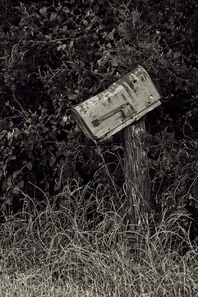 old mailbox bw