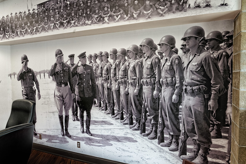 General Patton and 65th Infantry Division Mural