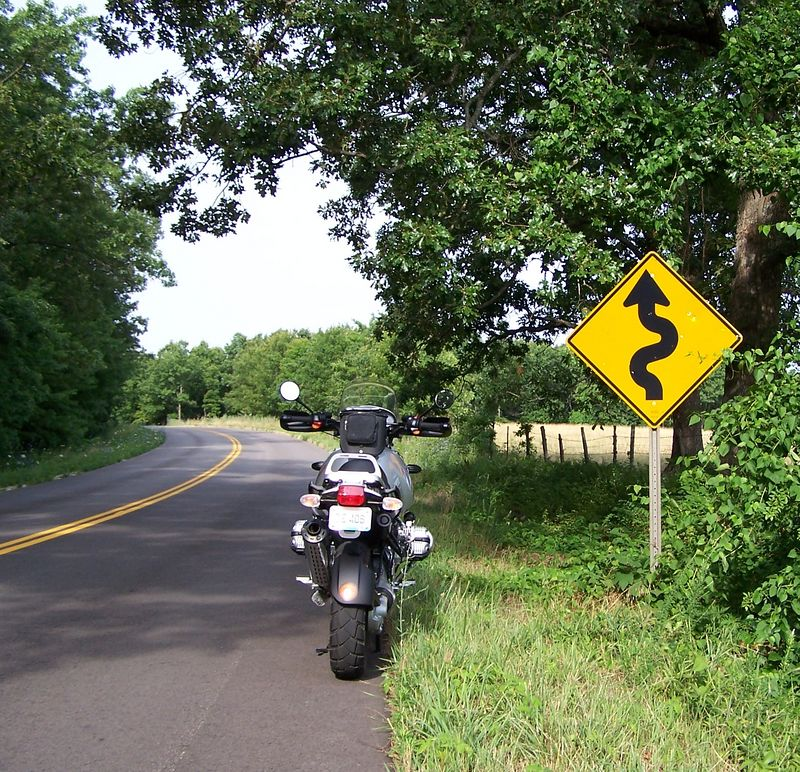 The beginnings of Hwy DD, quite possibly the best twisty road in the state.  The pavement is spotless and there is minimal traffic.  Well, except for the 15 Harley riders going the other way and not ONE of them waved.  I guess they were too scared to take a hand off the bars and acknowledge a fellow rider.