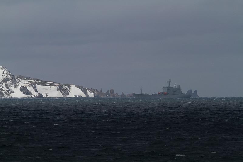 HMS Scott in King George Island.