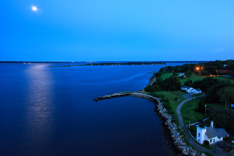 Bristol Harbor, RI moonset