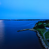 Bristol Harbor, RI moonset