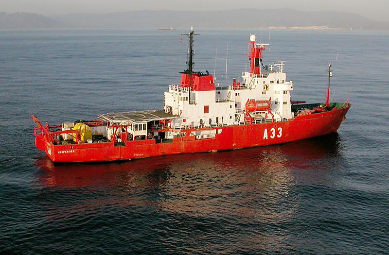 BIO Hesperides A33 in Gibraltar Strait