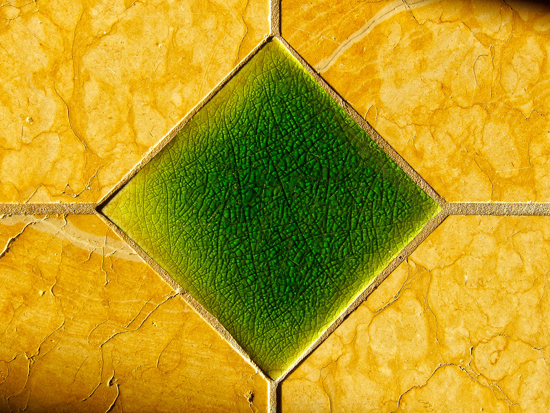 Floor tile in morning light