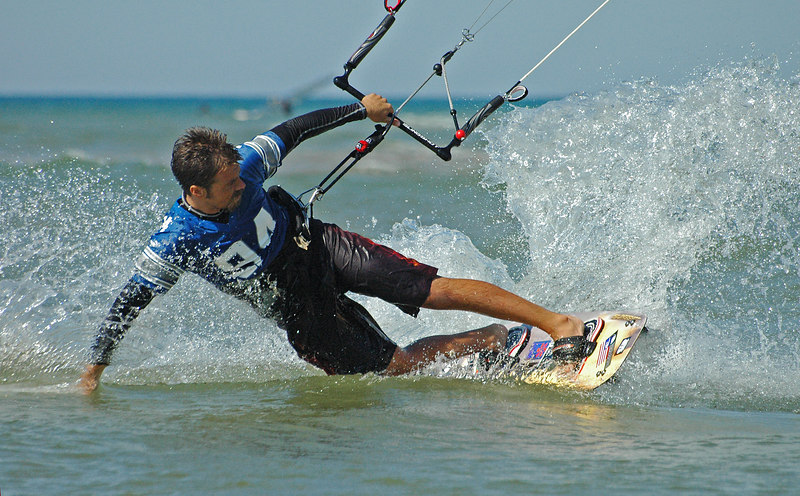 Kiteboarder at Little Point Sable