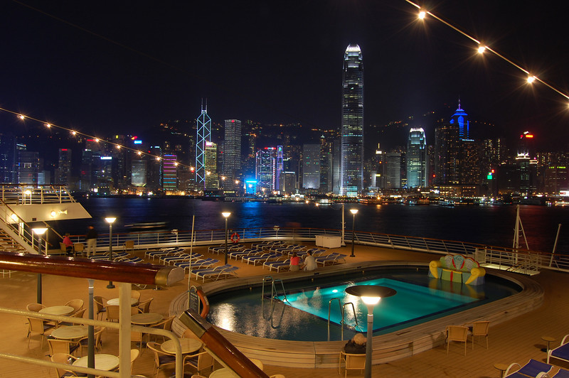 Amsterdam ship in Hong Kong Harbour