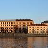 Buildings on the Vltava River, Prague, Czech Republic in February 2014
