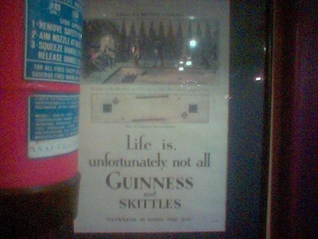 Guinness and Skittles