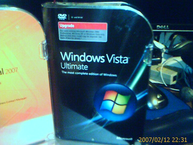 Windows vista ultimate box