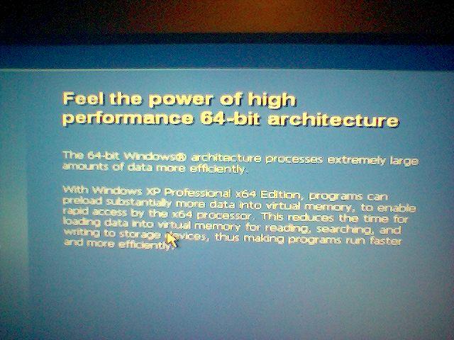 X64 version of windows booting