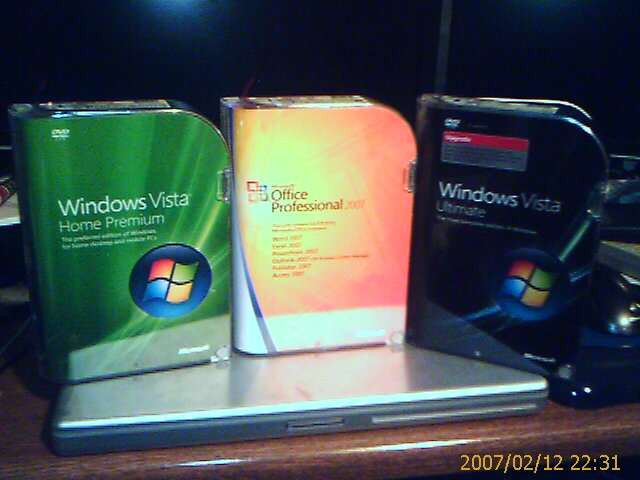 Windows vista and office 2007 boxes
