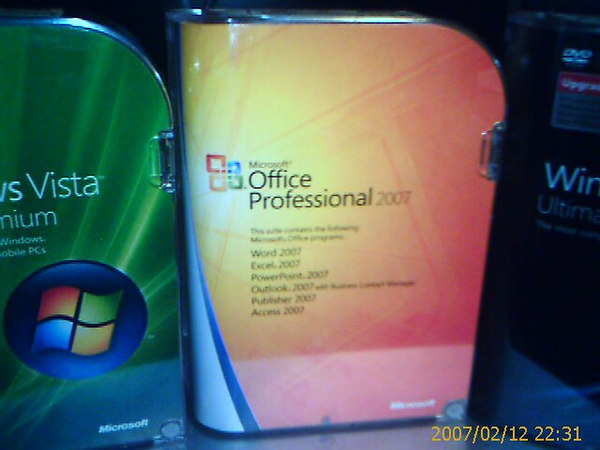 Office profesional 2007 box
