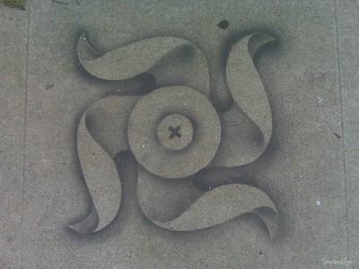 sidewalk graffiti LA