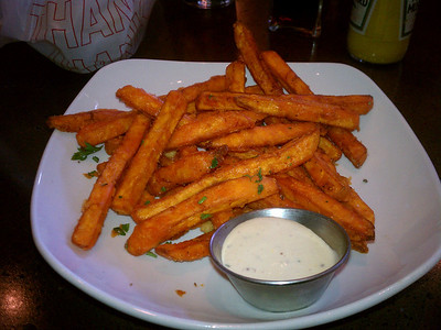 Sweet potato fries with horseradish @ FlipSide