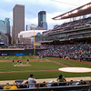 Awesome (but wet) seats at Target Field
