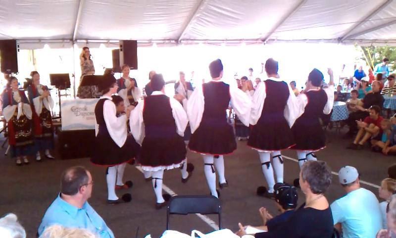 Dancing at the Greek festival