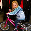 Eve on her first bike!
