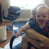Ben at the hair salon :)