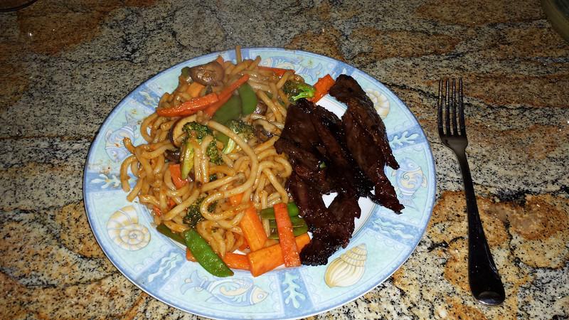 Beef & Udon Noodle Stir Fry