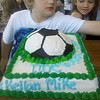 The soccer cake made after rec soccer spring season.