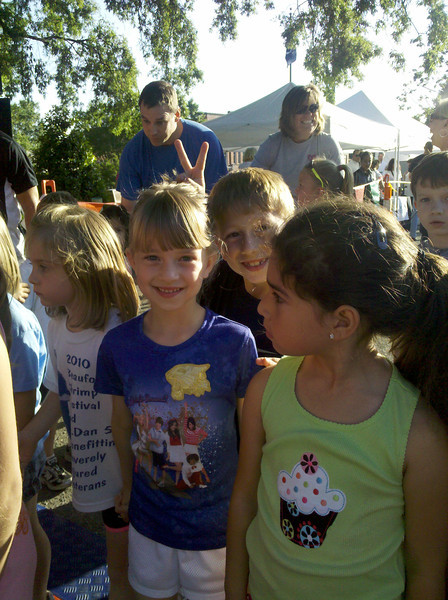 "The kids before their ""fun run"" in Waxhaw."
