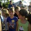 """The kids before their """"fun run"""" in Waxhaw."""