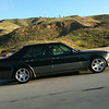 Alicia drives the E500 on the Interstate-14 at 6am.