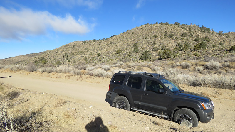 Along Cedar Canyon Road.  There's about 25 miles of dirt road between Cedar Canyon Road and Black Canyon Road.