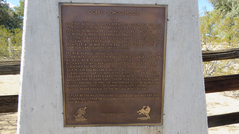 One of my bucket list items to see the Goffs Schoolhouse.