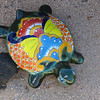 A painted tortoise.  They look like they're ceramic.