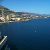 Looking out towards Menton and Italy