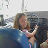 Captain Natalie at the helm