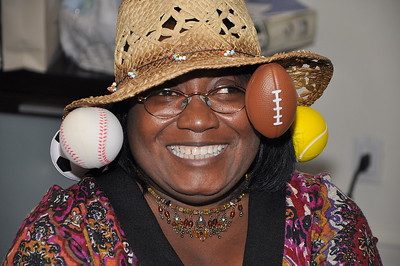 "Brenda Parson, ""Winner of The Most Creative Hat"" Contest"