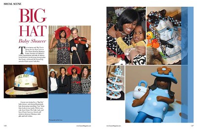 Monique Evans Hat Theme Baby Shower is currently being featured in the Spring 2010 issue of Atlanta Social Season Magazine.