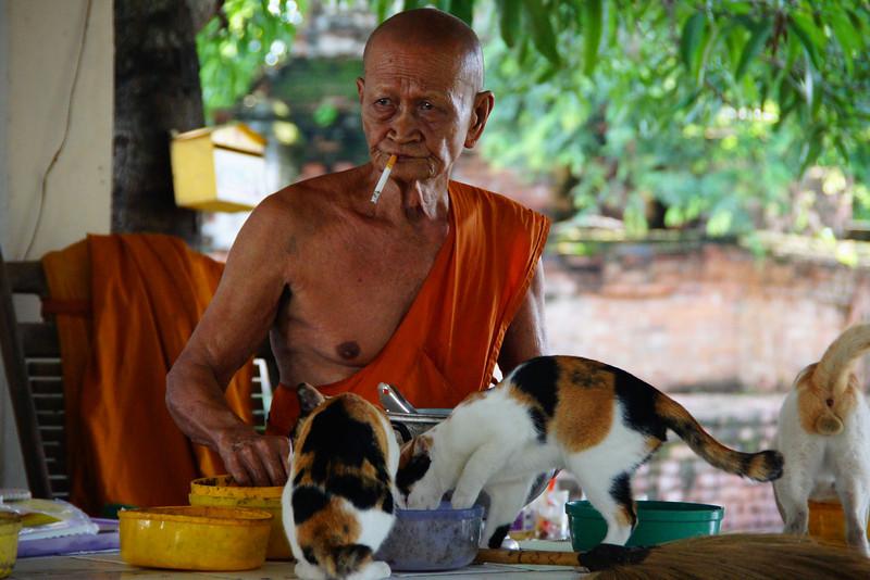 Monks behaving badly - smoking, etc