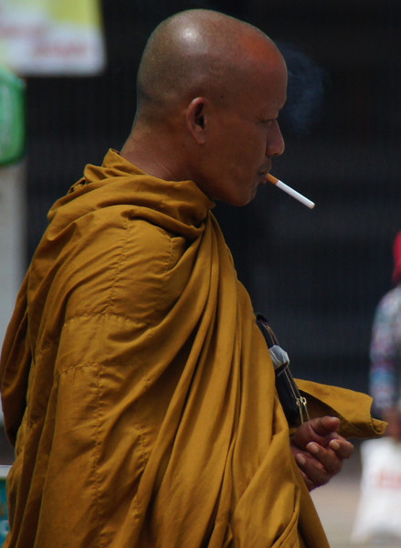 Monks behaving badly - smoking, etc