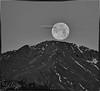 Moon setting on Pikes Peak