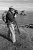 Gary Bloomfield birdwatching at Elk Head, near Trinidad, California, June 2012.
