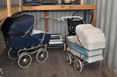 Vintage prams in storage for up to 20 years