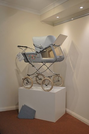 "German ""Gesslein Panorama""  pram on display"