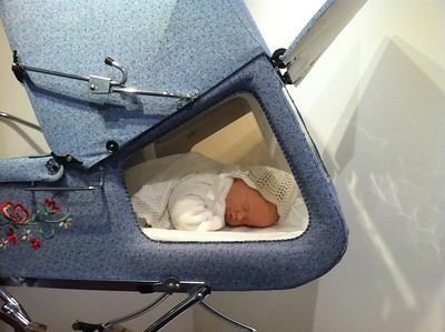 The Gesslein Panorama pram with a new arrival!
