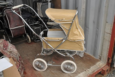 Steelcraft 1970's prams in storage