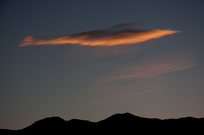 Predawn cloud over Bridgers