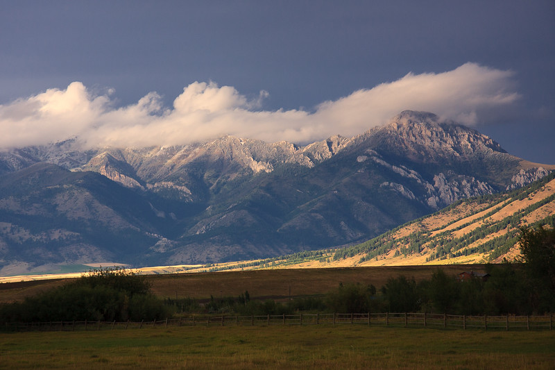 Bridger Mountains -ranch view