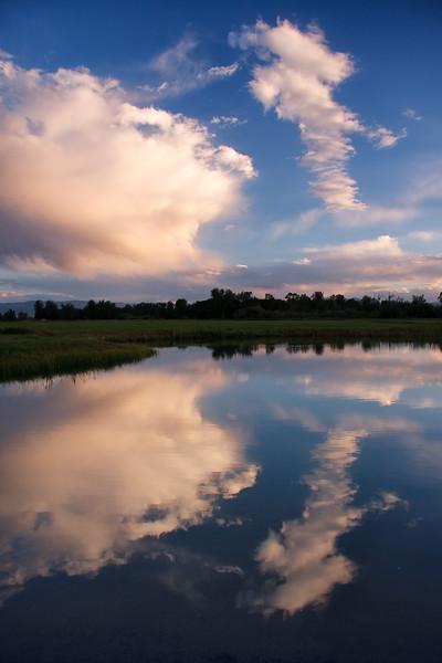 Gallatin River Lodge pond